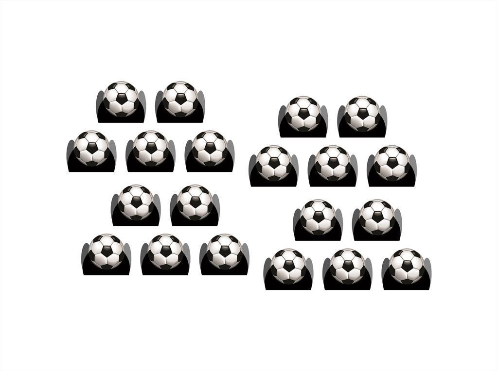 50 forminhas, 50 mini colheres Futebol + 50 copinhos