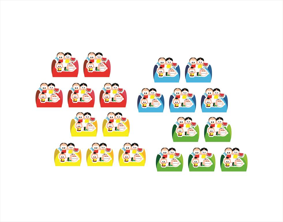 50 forminhas, 50 mini colheres tema Turma da Mônica Toy + 50 copinhos