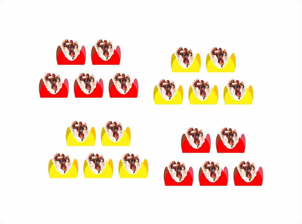50 Forminhas Flash desenho
