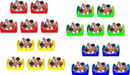 50 Forminhas Mini Beat Power Rockers