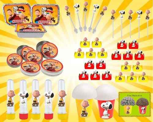 Kit Festa Infantil Snoopy 160 Peças (20 pessoas)