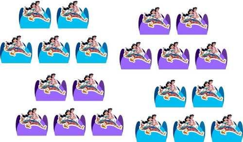 Kit Festa Aladdin E Jasmine 292 Peças (30 pessoas)