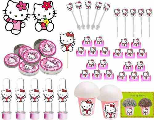 Kit Festa Infantil Hello Kitty 265 Peças (30 pessoas)