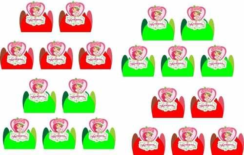 Kit Festa Infantil Moranguinho 265 Peças (30 pessoas)