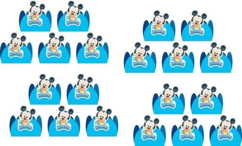 Kit Festa Infantil Mickey Baby 265 Peças (30 pessoas)