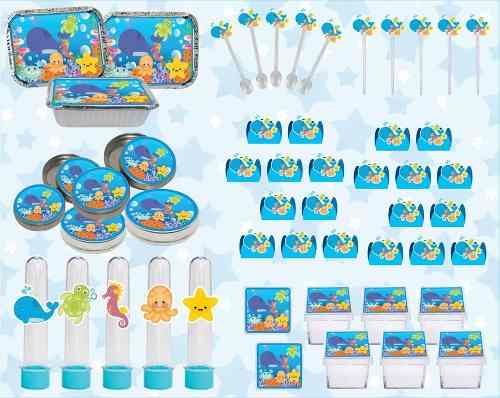 Kit Festa Infantil Fundo Do Mar 178 Pças