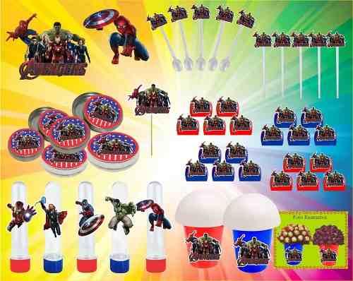 Kit Festa Infantil Vingadores 143 Peças (20 pessoas)