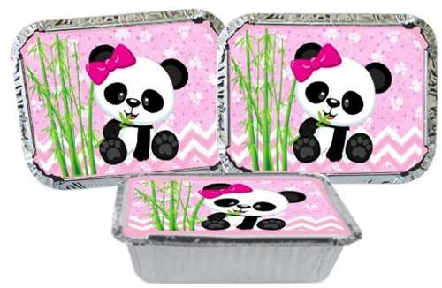 Kit Festa Infantil Panda menina 160 Peças (20 pessoas)