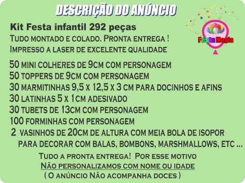 Kit Festa Infantil Chaves 292 Peças (30 pessoas)