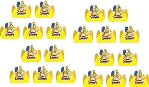 Kit Festa Infantil Os Simpsons 114 Peças (10 pessoas)