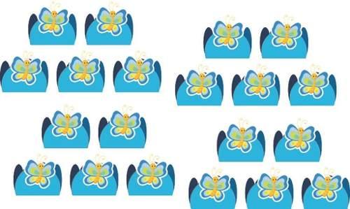 Kit Festa Borboleta Azul 160 Peças (20 pessoas)