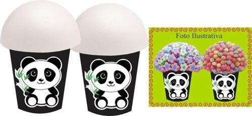 Kit Festa Infantil Panda Preto E Branco 265 Peças (30 pessoas)