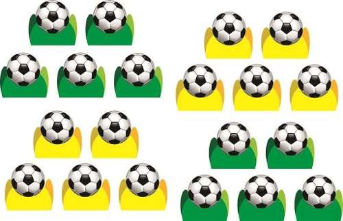 Kit Festa Futebol (verde E Amarelo)107 Peças (10 pessoas)
