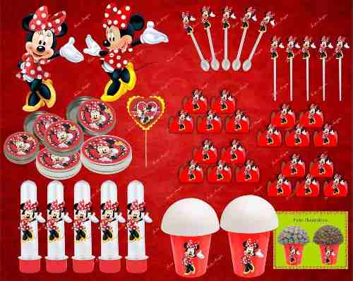 Kit Festa Infantil Minnie Vermelha 265 Peças