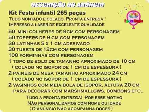 Kit Festa Infantil Jardim Encantado (passarinhos) 265 Peças