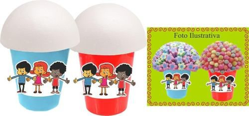Kit Festa Infantil 3 Palavrinhas 160 Peças (20 pessoas)