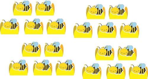 Kit Festa Abelha (abelhinha) 143 Peças (20 pessoas)