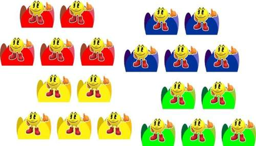 Kit Festa Infantil Pac Man 107 Peças (10 pessoas)