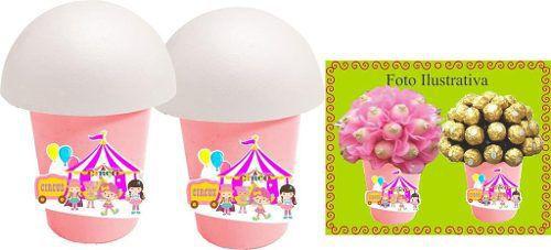 Kit Festa Infantil Circo Menina 265 Peças (30 pessoas)