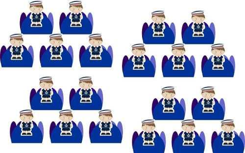Kit Festa  Menino Marinheiro (azul Escuro) 265 Peças (30 pessoas)