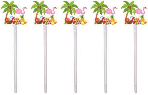 Kit Festa Tropical Flamingo 143 Peças (20 pessoas)