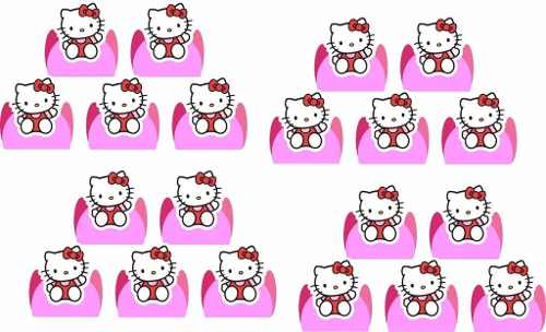 Kit festa Infantil Hello Kitty 160 Peças (20 pessoas)
