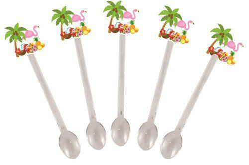 Kit Festa Tropical Flamingo 107 Peças (10 pessoas)