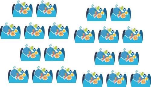 Kit Festa Infantil Fundo Do Mar 353 Peças (50 pessoas)