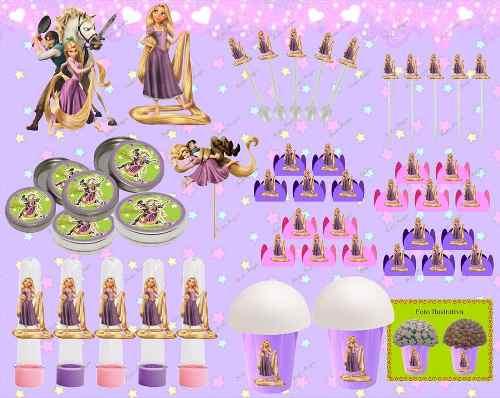 Kit Decorativo Enrolados (rapunzel) 143 Peças