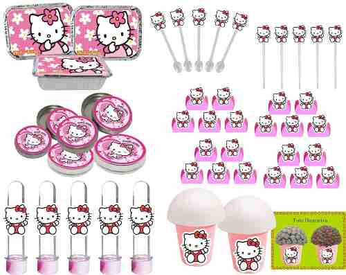 Kit Festa Infantil Hello Kitty 292 Peças