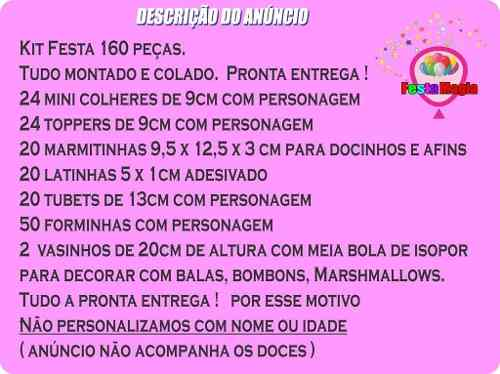 Kit Festa Infantil Júpter (luna) 160 Peças (20 pessoas)