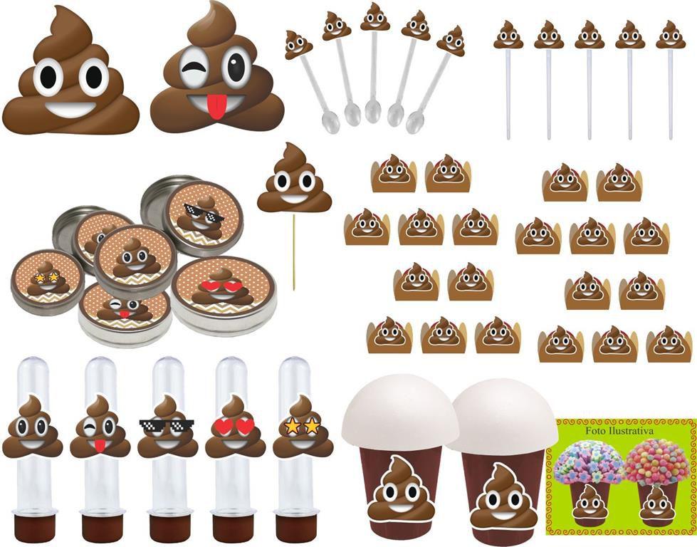 Festa Emoji Cocô 99 peças (10 pessoas)