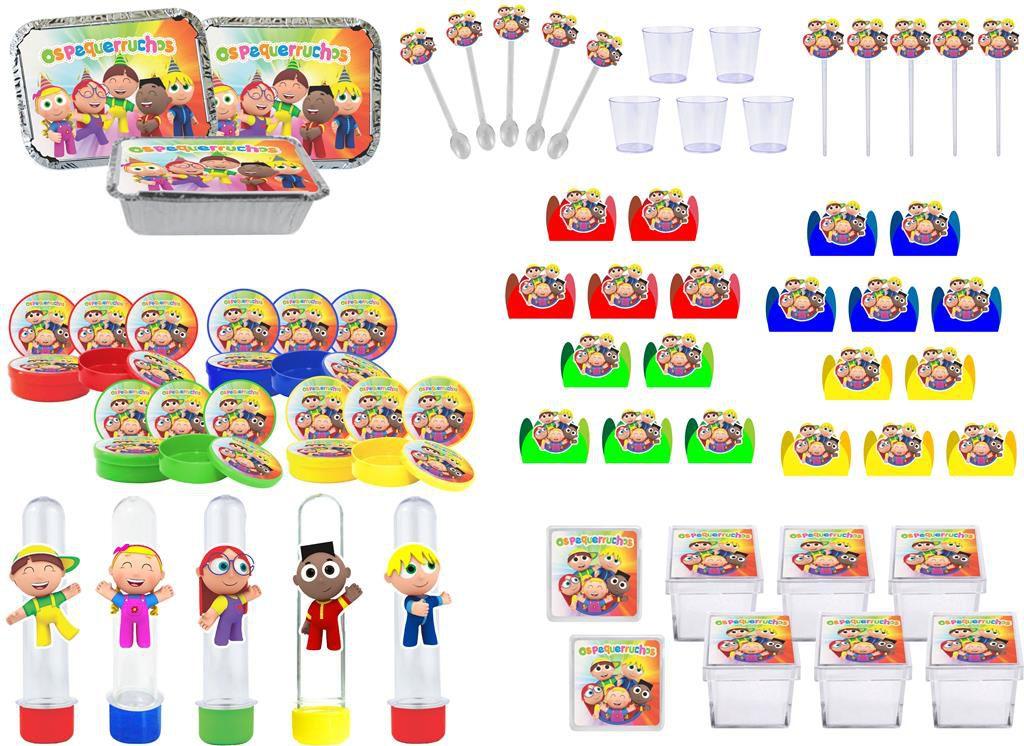 Kit Festa Os Pequerruchos 190 peças (20 pessoas)
