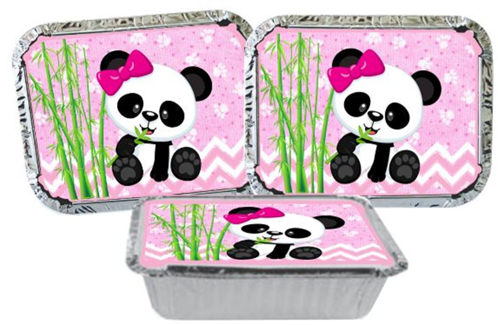 Kit festa Panda Menina 292 Peças (30 pessoas)