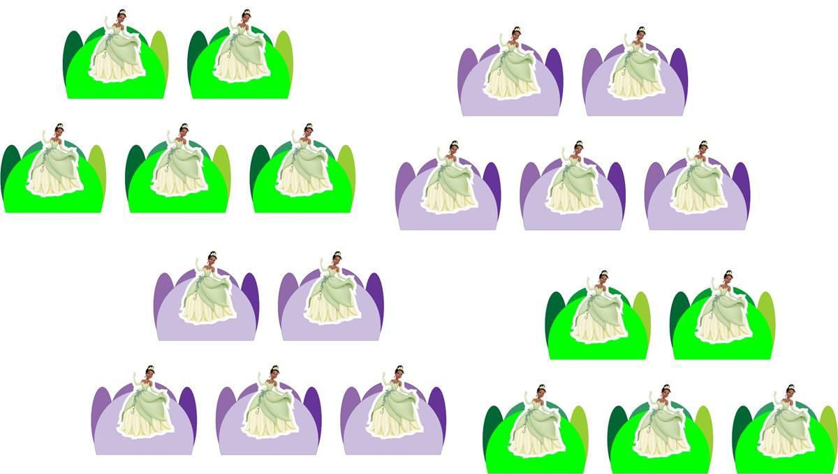 Kit festa A Princesa e o Sapo 143 peças (20 pessoas)