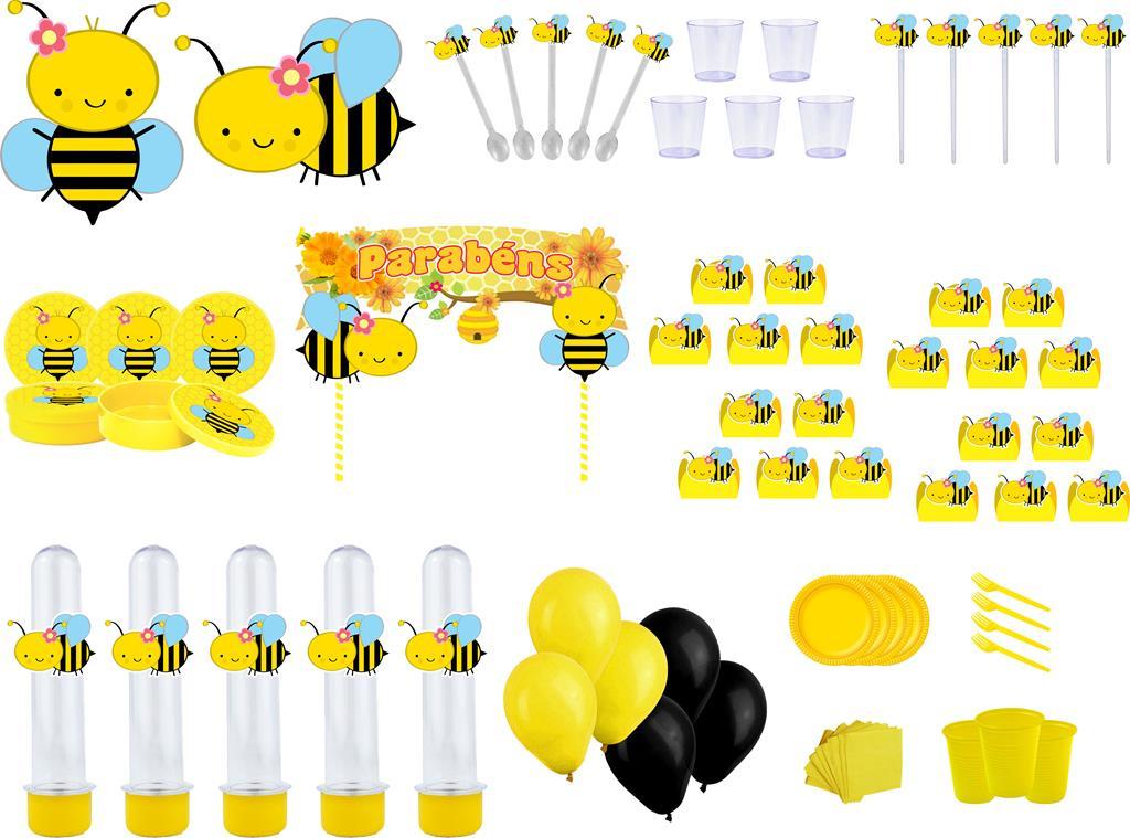 Kit festa Abelhinha menina 363 peças (20 pessoas)
