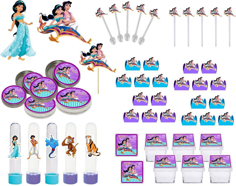 Kit Festa Aladdin E Jasmine 107Peças (10 pessoas)
