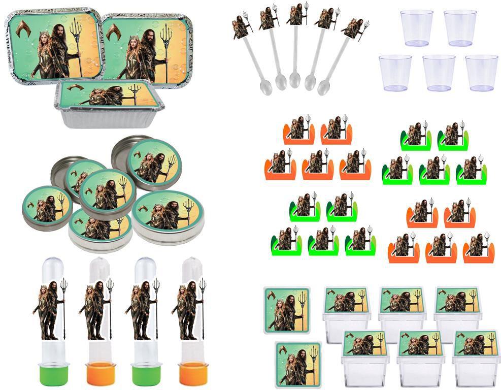 Kit festa Aquaman 170 peças (20 pessoas)