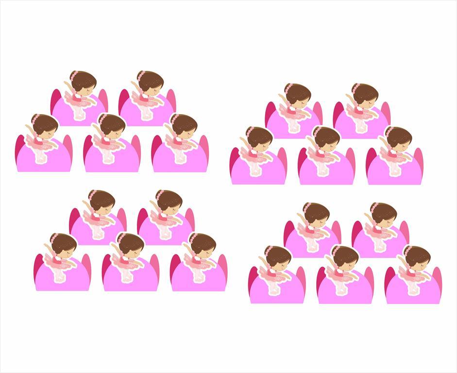 Kit festa Bailarina 107 peças (10 pessoas)