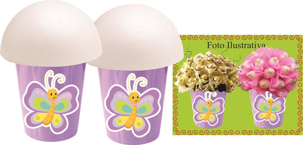 Kit festa Borboleta (lilás) 155 peças (20 pessoas)