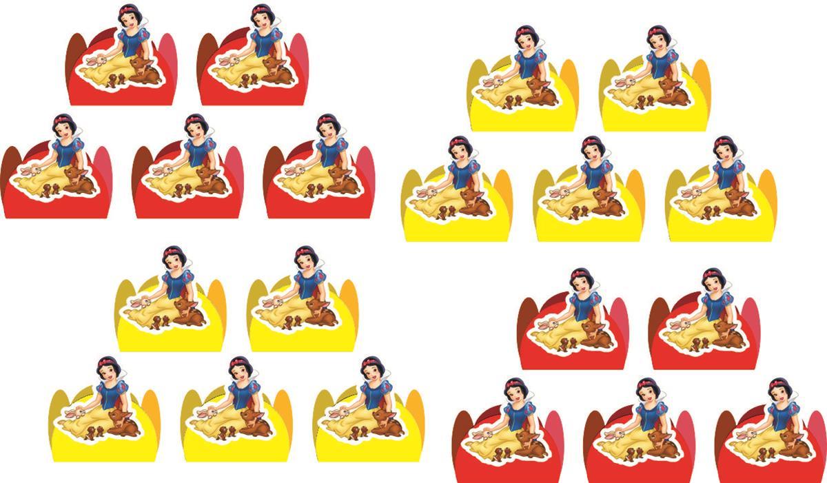 Kit festa Branca de Neve 107 peças (10 pessoas)
