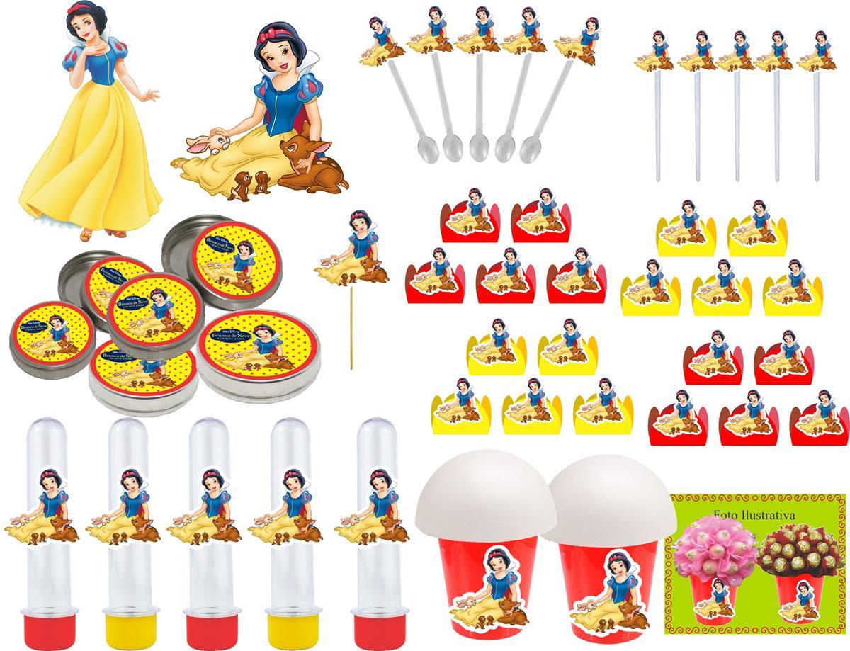 Kit festa Branca de Neve 143 peças (20 pessoas)