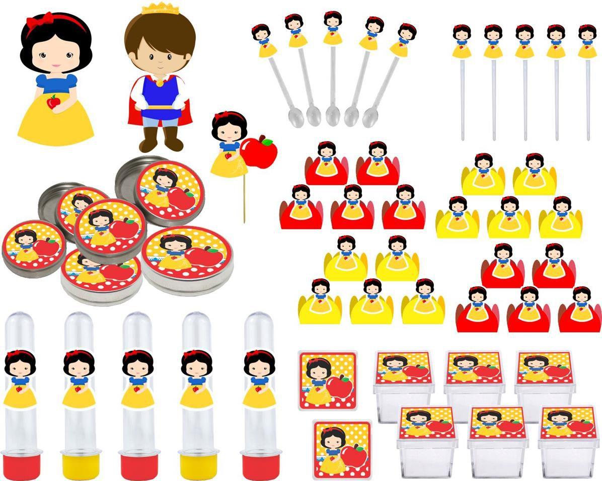Kit festa Branca de Neve Baby 161 peças (20 pessoas)