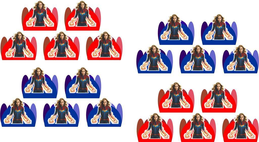 Kit festa Capitã Marvel 155 peças (20 pessoas)