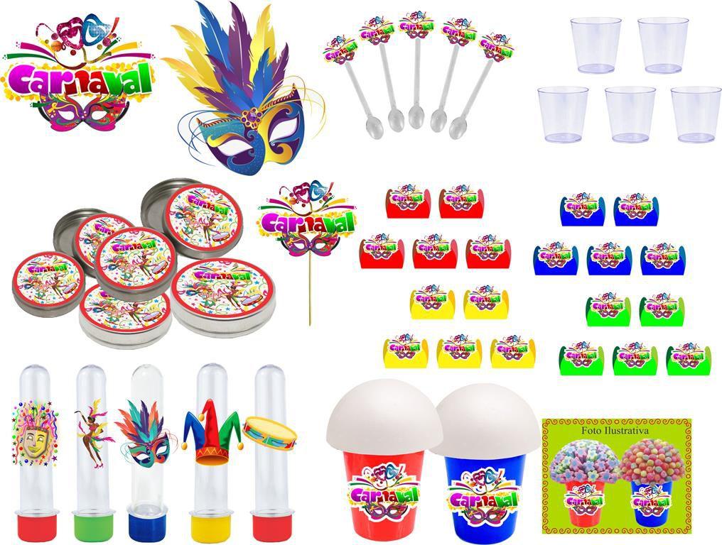 Kit festa Carnaval 155 peças (20 pessoas)