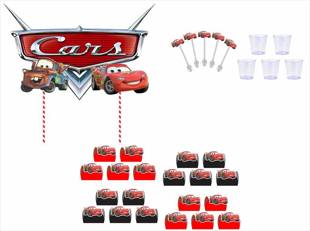 Kit festa Carros 61 peças