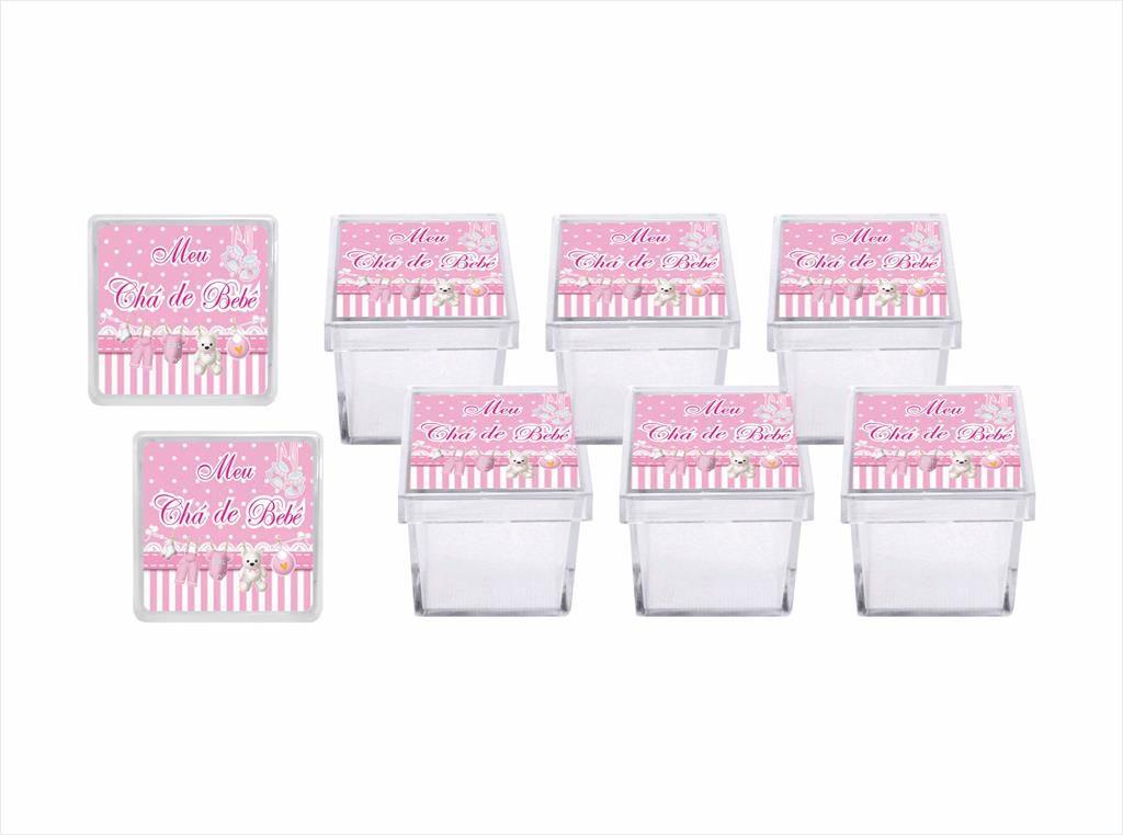 Kit festa Chá de Bebê menina 113 peças (10 pessoas)