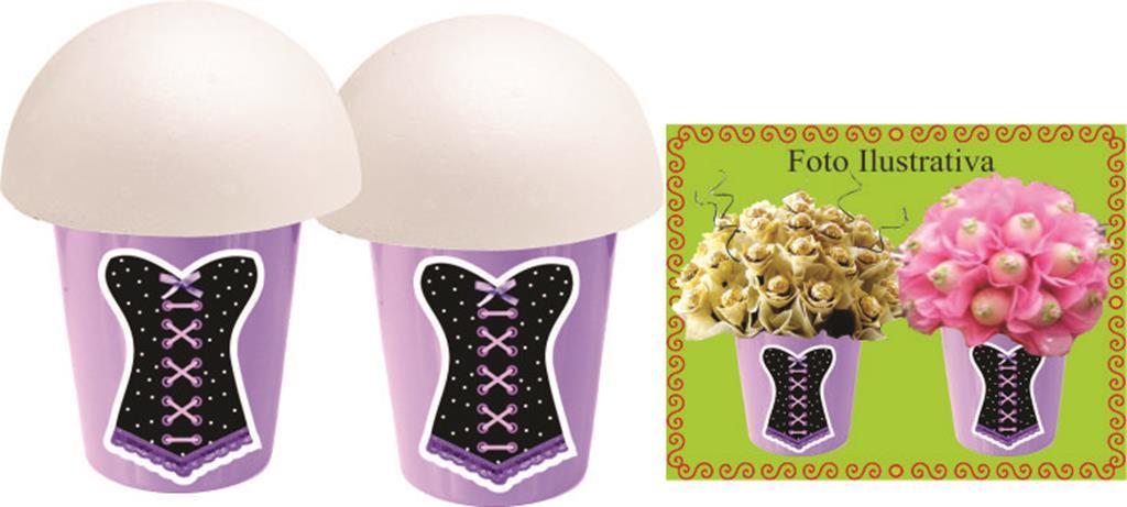 kit festa Chá de Lingerie (lilás e Preto) 160 peças (20 pessoas)