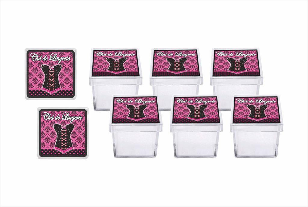 kit festa Chá de Lingerie (pink e Preto) 173 peças (20 pessoas)