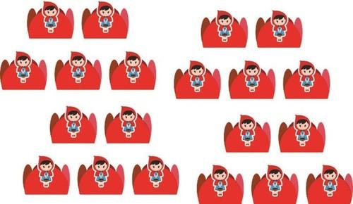 Kit festa Chapeuzinho Vermelho 99 peças (10 pessoas)
